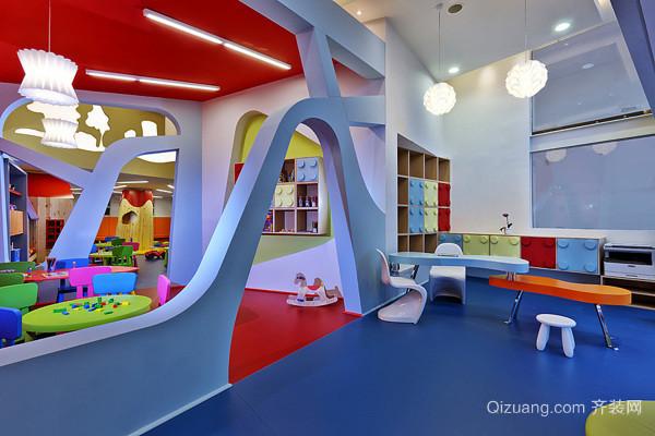 卡通清新幼儿园室内装修效果图