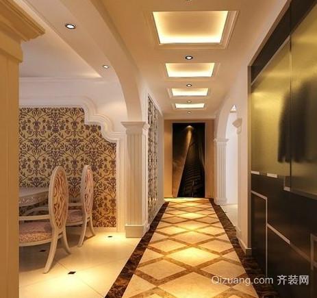 现代简约风格复式楼走廊吊顶装修效果图