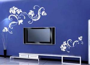 客厅液体壁纸电视背景墙装修效果图