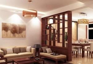大户型现代客厅博古架背景墙装修效果图