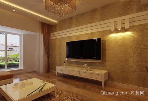 都市宜家凹凸石膏板客厅电视背景墙装修效果图