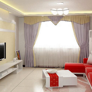 客厅设计窗帘图