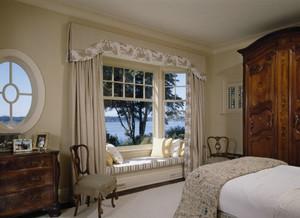 美式田园风卧室飘窗效果图集