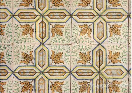 仿古拼花大理石陶瓷晶石地板砖贴图