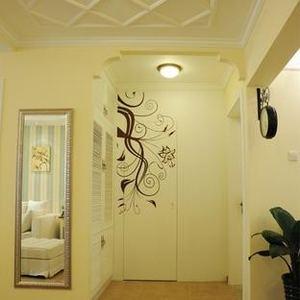 现代简约中式玄关过道隐形门装修效果图