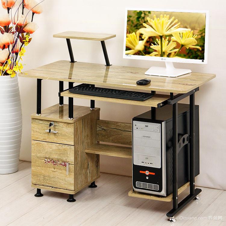 大户型现代中式书房家装台式电脑桌装修效果图