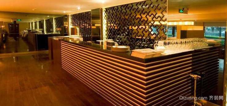 美式风格酒吧吧台设计装修效果图