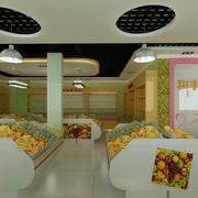 水果店设计背景墙图