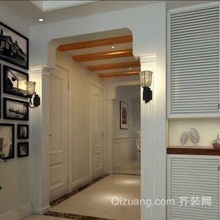 别墅简欧风格走廊集成吊顶装修效果图