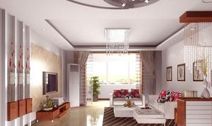 120平米欧式客厅飘窗设计装修效果图