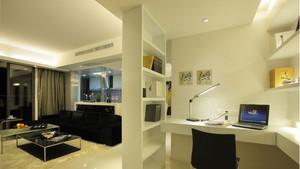 国内外最新最精美客厅兼书房装修设计效果图