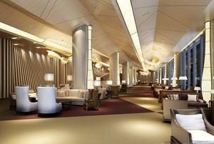大型酒店餐厅吊顶装修效果图