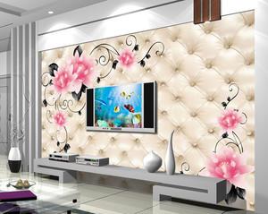 客厅3d电视背景墙壁纸装修效果图