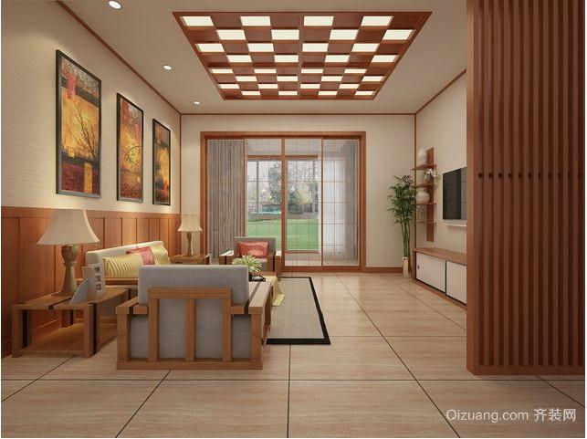 日式走廊吊顶装修效果图