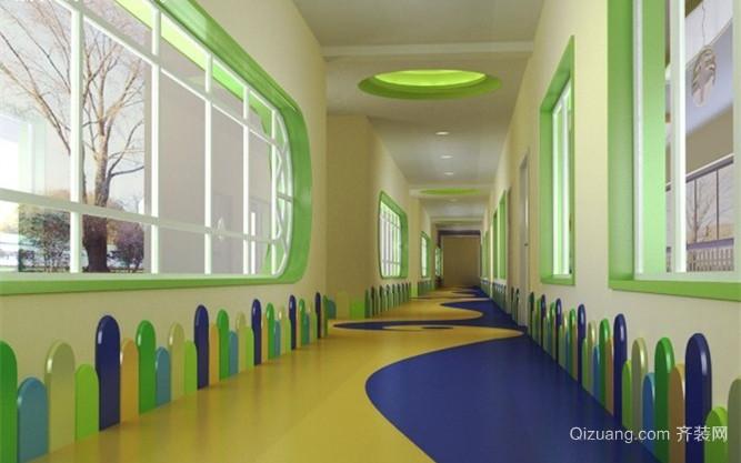 幼儿园走廊装修效果图