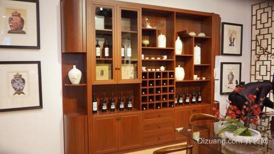 典雅尊贵现代中式实木简单质朴酒柜