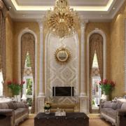 窗帘设计背景墙图