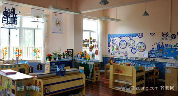 2015简约风格幼儿园教室布置设计装修效果图