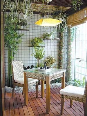 最新阳台花园榻榻米装修效果图