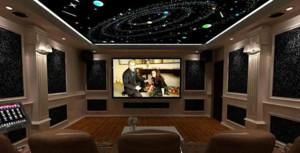 欧式私人小型家庭影院装修效果图