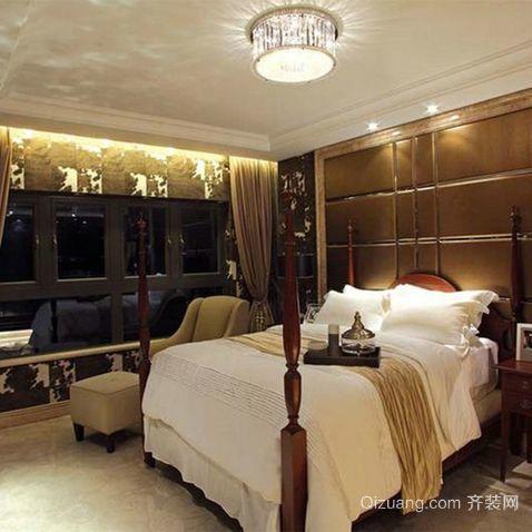 两室一厅美式精美卧室装修效果图