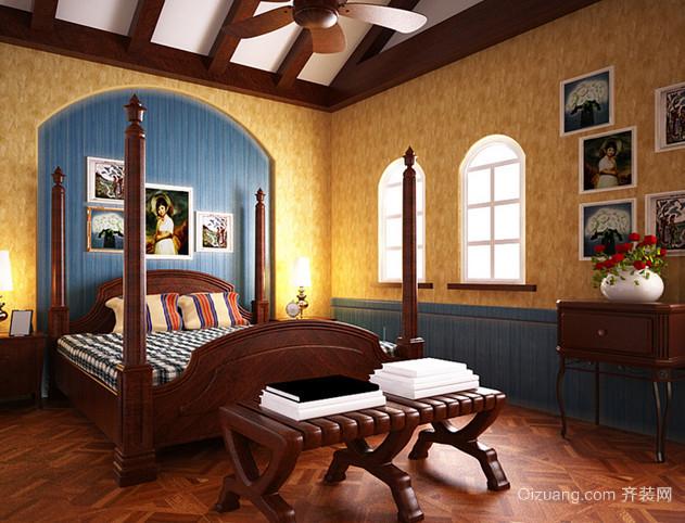 大户型温馨典雅美式儿童房设计装修效果图