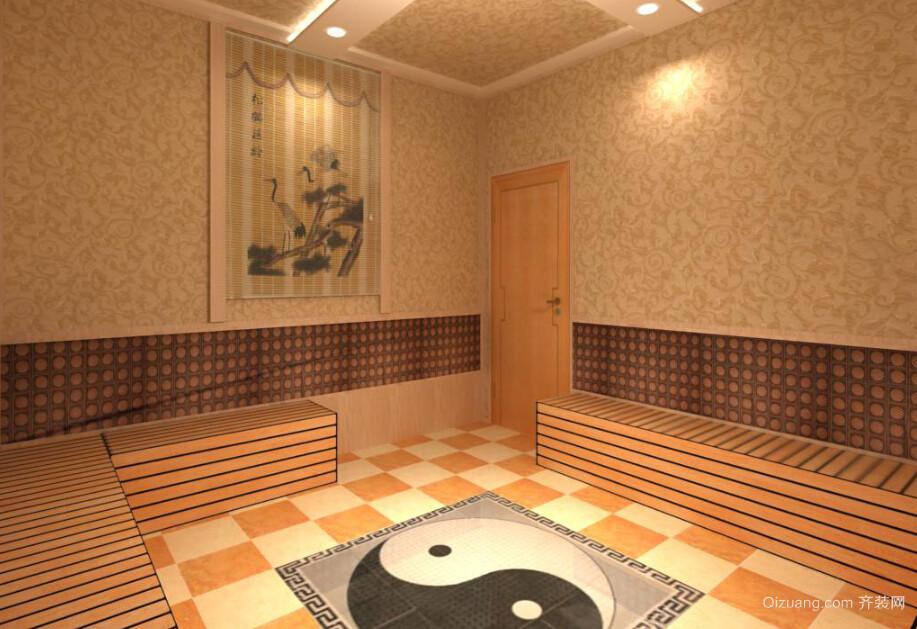 韩式汗蒸馆室内装修效果图