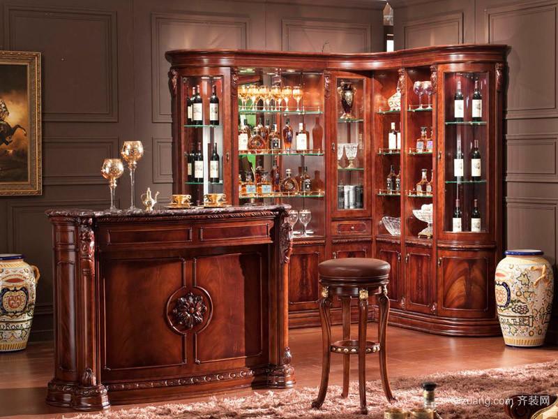 欧式夜色酒吧吧台装修设计效果图