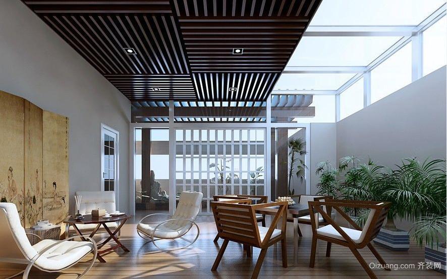 2015生态环保型阳台生态木吊顶效果图