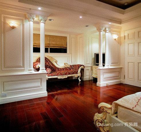 90平米小户型巴洛克风格卧室背景墙装修效果图