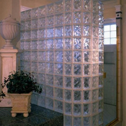 玻璃砖隔墙造型图