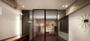 日式风格客厅屏风隔断装修效果图