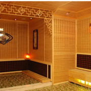 现代汗蒸房背景墙图