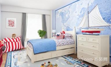 大户型海洋范儿地中海风格儿童房设计装修效果图