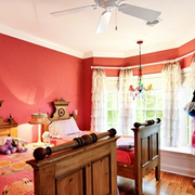 现代背景墙卧室图