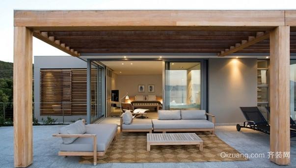 中式风格客厅实木沙发装修效果图