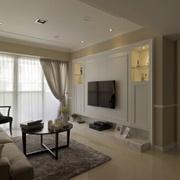 客厅设计窗帘造型图