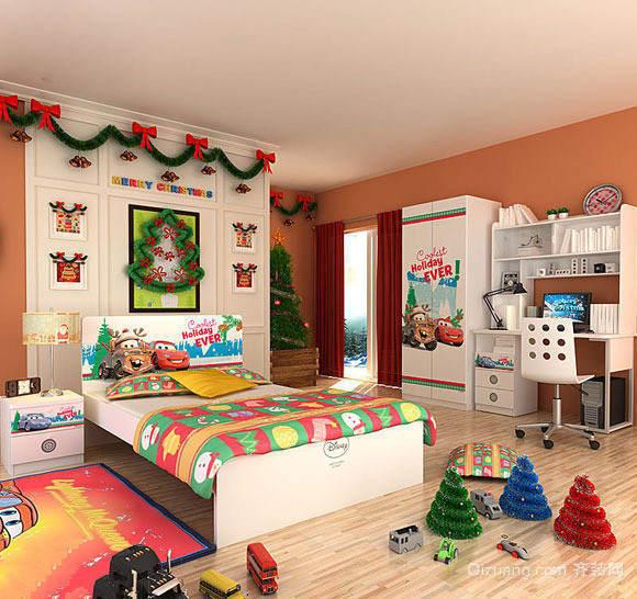 小户型宜家现代儿童房卧室背景墙装修设计效果图