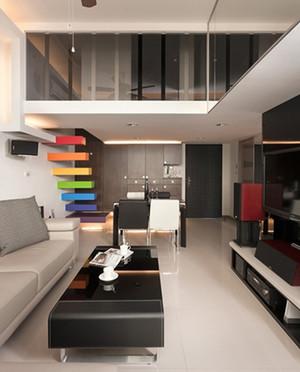 120m²复式楼后现代风格楼梯设计装修效果图