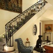暖色调楼梯模板