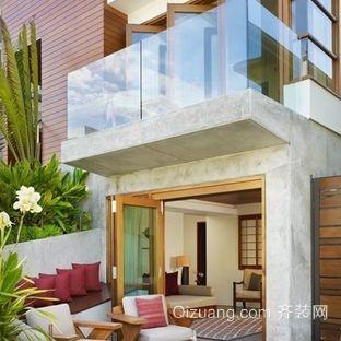 欧式复式楼露天阳台装修效果图
