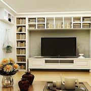 唯美的电视背景墙造型图