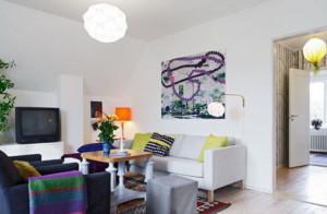 小户型北欧田园风格客厅装修效果图