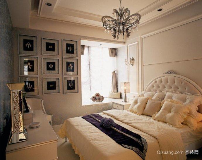 欧式风格两室一厅婚房装修效果图