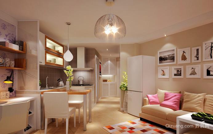简约宜家一居室单身汉公寓装修效果图