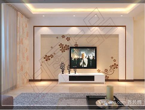 2015客厅硅藻泥电视背景墙装修效果图
