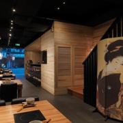 餐厅设计背景墙图
