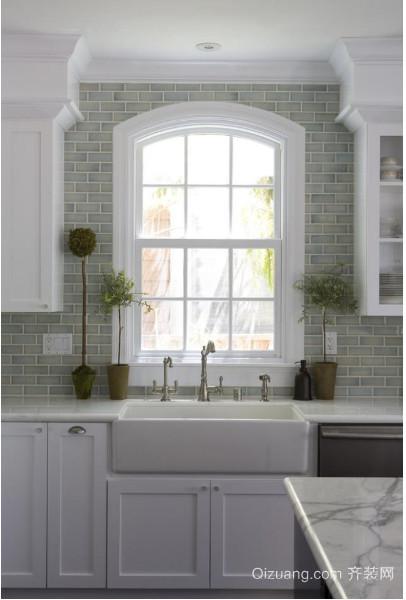 小户型厨房大理石台面装修设计图