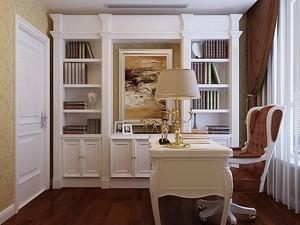 小别墅欧式书柜装修效果图