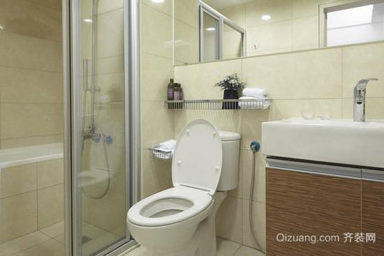 90平米小户型卫生间隔断装修效果图
